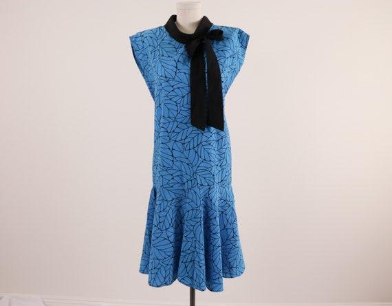 1980's Drop Waist Dress/1980's Cotton Dress/1980's