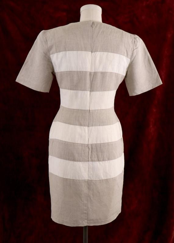 1980's Minimalist Dress/1980's Linen Dress/1980's… - image 4