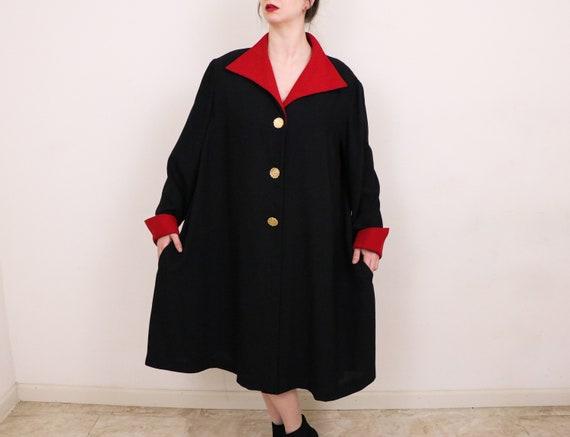 Minimalist Oversized Coat/Swing Coat/1990's Swing