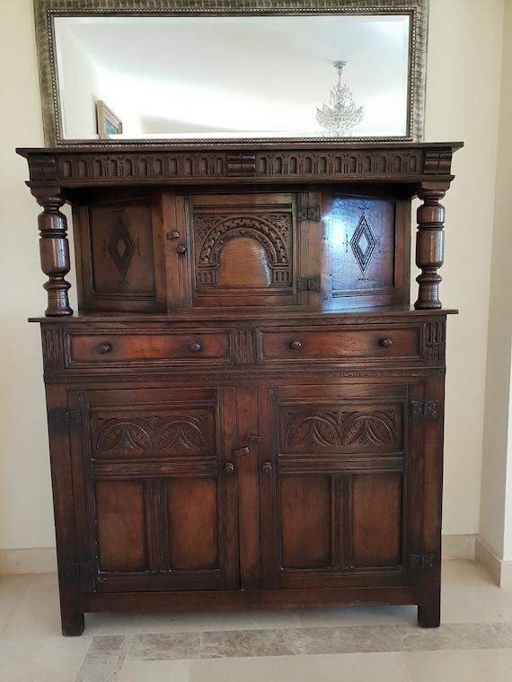 Beautiful Antique Sideboard Buffet Cupboard Etsy