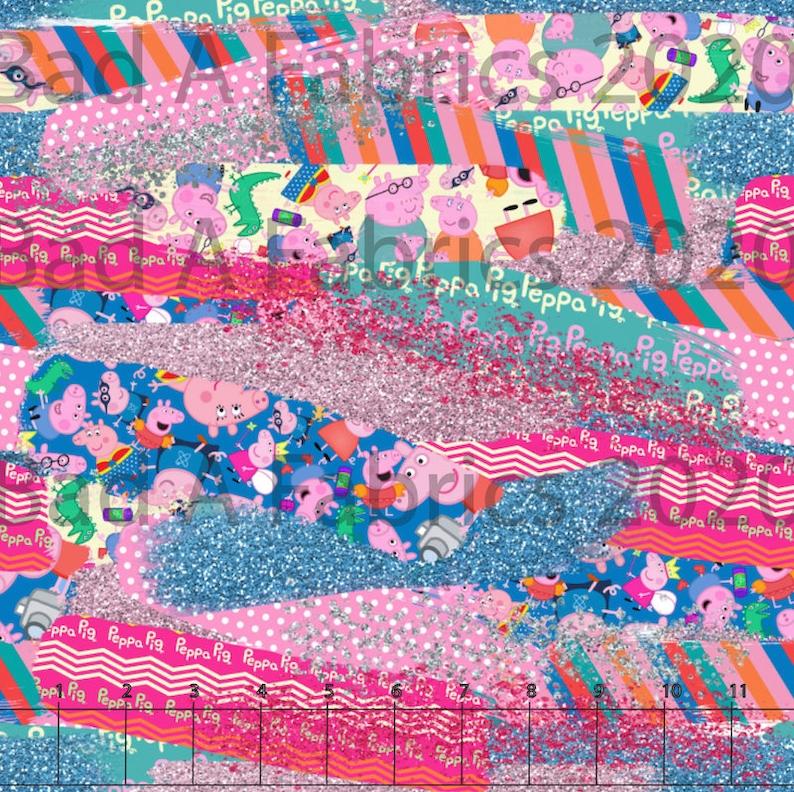 Cotton Woven Fabric Bamboo Fabric Pig Fabric Cotton Lycra Jersey Knit Summer Cartoon Fabric PUL Character Fabric