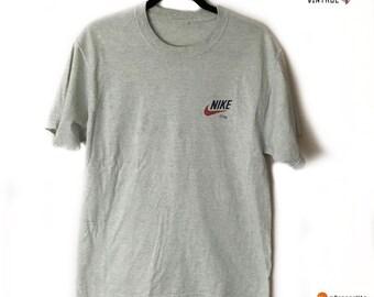 fc5c2b35a40 Vintage Bootleg Nike Air T-Shirt Grey Size Mens Medium