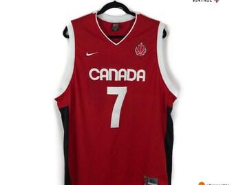 1939cb2068a Vintage Steve Nash Team Canada Basketball Fibs Jersey Size Mens XL