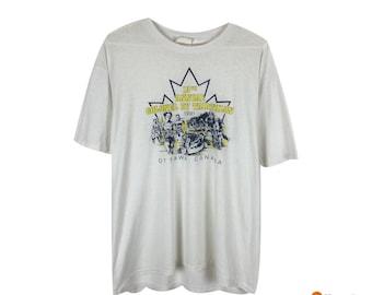 58f074de1 VTG Ottawa Triathalon T Shirt Single Stitch Tee | Paper Thin T-Shirt 1991 |  Mens Size Large L | 90s Streetwear Fashion Vintage