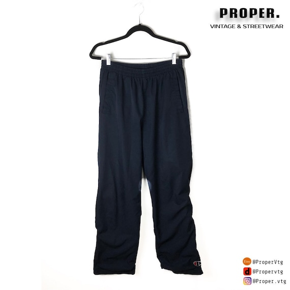 VTG Champion Trackpants Navy Blue C Logo | Windpan