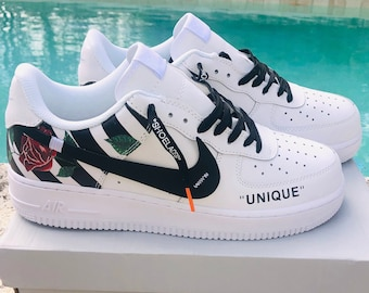 aa35a009d09 Nike Air Force 1 x Off Inspired Custom Design Men Women Sizes Designer  Luxury Brand AF1