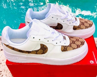 df100d1ea8ae Nike Air Force 1 x GG Inspired Custom Design Men Women Sizes Designer  Luxury Brand AF1