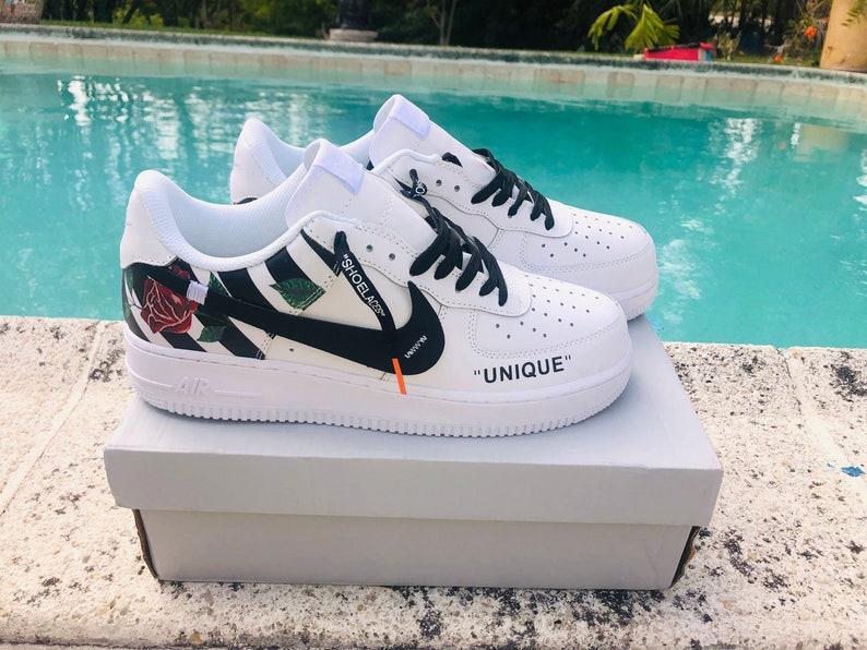 b8a34267951a Nike Air Force 1 x Off Inspired Custom Design Men Women Sizes