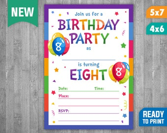 8 Year Old Invite