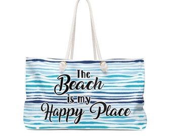 The Beach is my Happy Place Weekender Bag