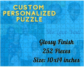 Personalized Puzzle 252 Pieces, Valentine'S Gift, Anniversary Gift, Wedding Anniversary Gift, Custom Puzzle, Jigsaw Puzzle, Picture Puzzle