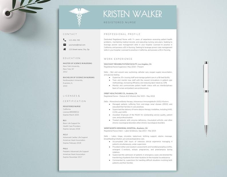 15+ Nurse Resume Templates - PDF, DOC | Free & Premium Templates