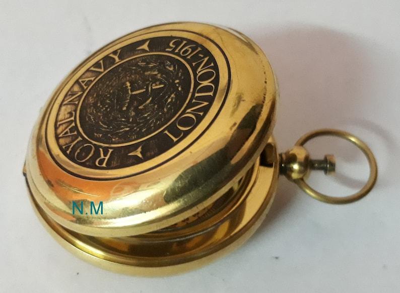Maritime Compasses Brass Handmade Pocket Compass Push Button Compass Vintage Nautical Gift Antiques