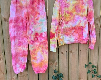 Tie Dye Sweatshirt + Sweatpants Combo