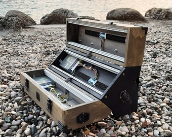 9U EURORACK CASE POWERED  84 or 104 or 126 hp, patched resealable, modular synthesizer
