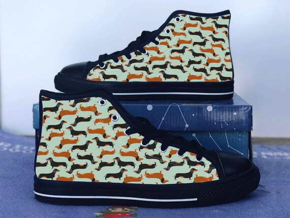 Dachshund Shoes Wiener Dog Converse
