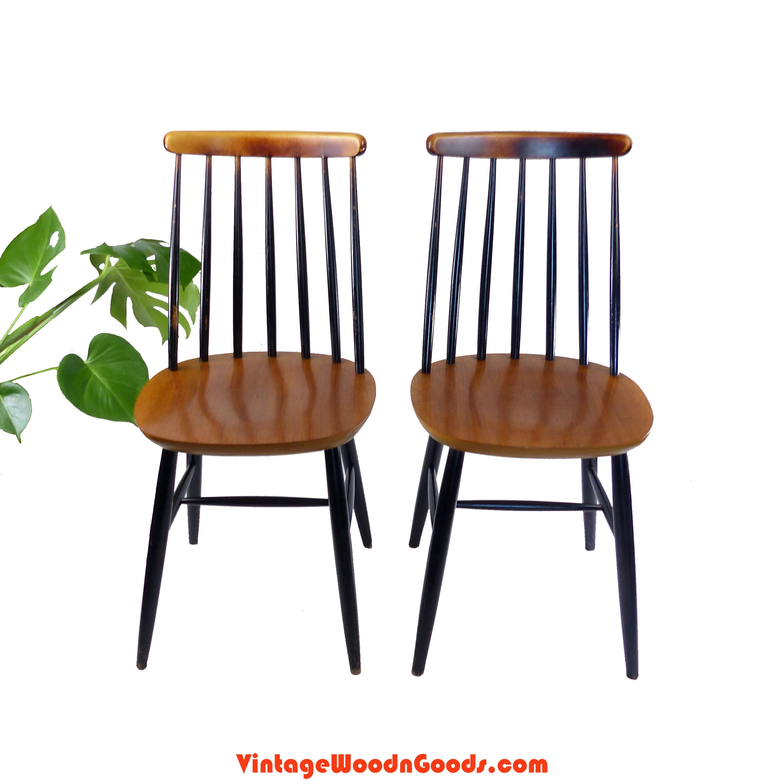 5 available! 1950s design WOODEN DINING CHAIRS ...