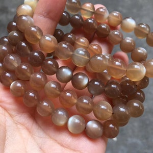 Moonstone Loose Beads 4mm6mm8mm10mm12mm for Choose YGS14 Natural Orange Moonstone Beads