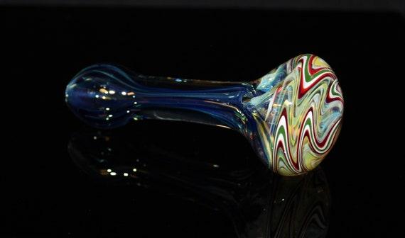 "4/"" VENICE GLASS Tobacco Smoking Glass Pipe VENICE GLASS Pipes"