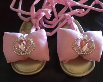 c6d7655a65a2a Bubble Bow Gladiator Sandals