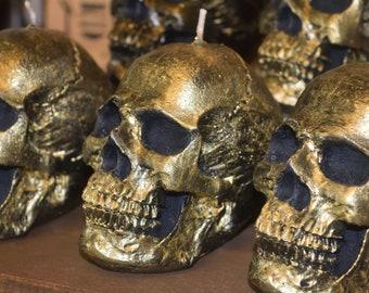 Skull candle. Big skull candle  - 100% vegetable wax. Halloween candles.