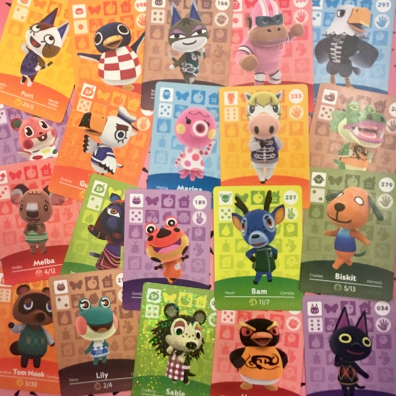 Animal Crossing Series 1 Amiibo Cards, #051 - #100  New Leaf Home Designer  Nintendo 3ds switch wii, Sold Individually!