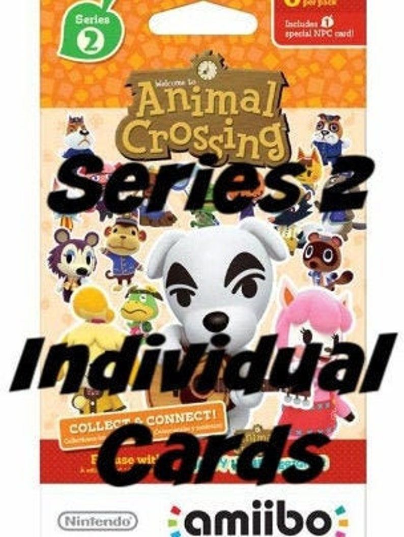 Animal Crossing Series 2 Amiibo Cards #151 - #200  New Leaf Home Designer  Nintendo 3ds switch wii, Sold Individually!