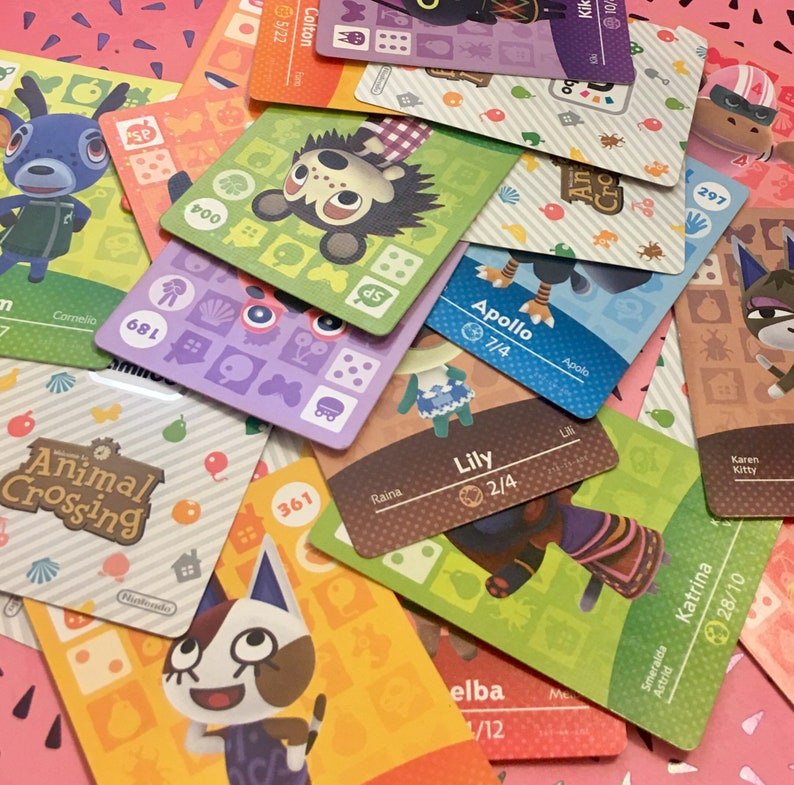 Animal Crossing Series 2 Amiibo Cards #101 - #150  New Leaf Home Designer  Nintendo 3ds switch wii, Sold Individually!