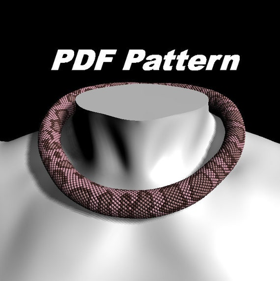 Pdf pattern Pink snake necklace Seed bead necklace Terrarium necklace Ouroboros necklace Snake jewelry Witch necklace Halloween necklace
