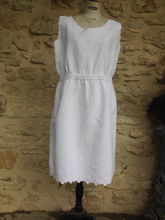 Vintage french pique dress