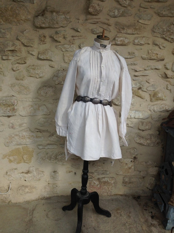 Antique rough linen shirt