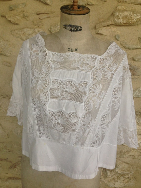 Antique french camisole lingerie