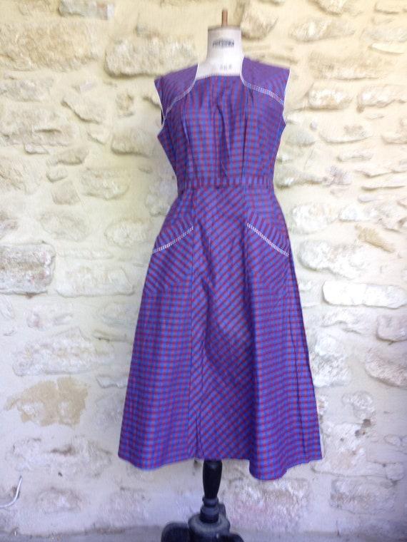 Vintage workwear pinafore