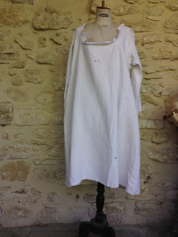 Antique hemp smock
