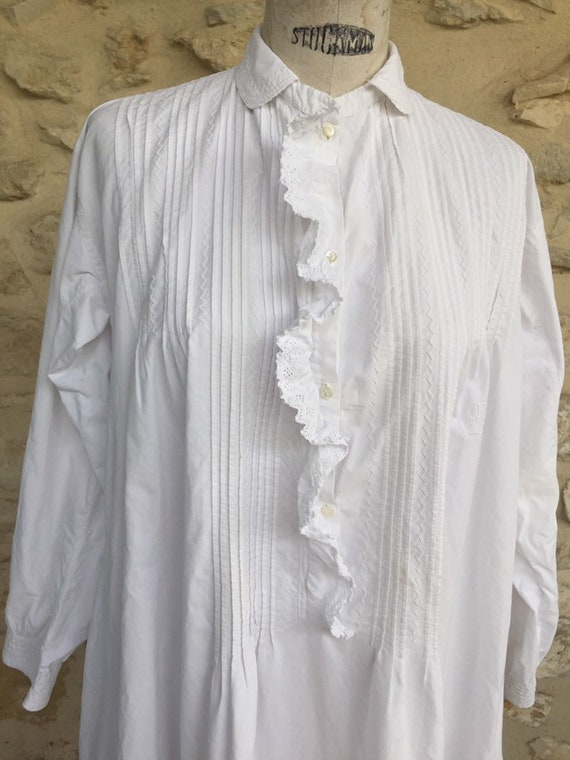 Antique Victorian nightgown - image 10