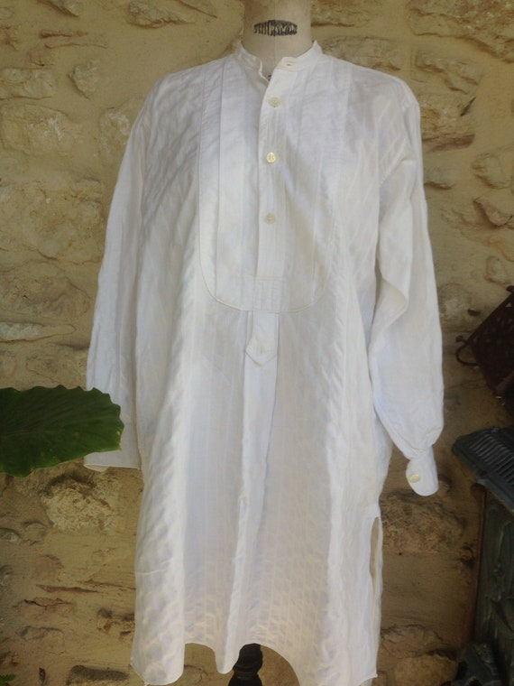 Antique french, mens shirt