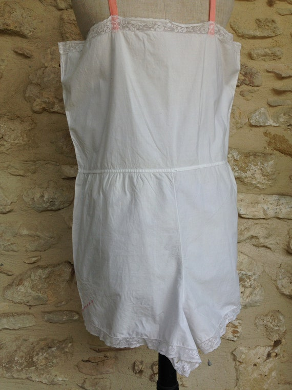 Antique french cami knickers 1900 Edwardian - image 3