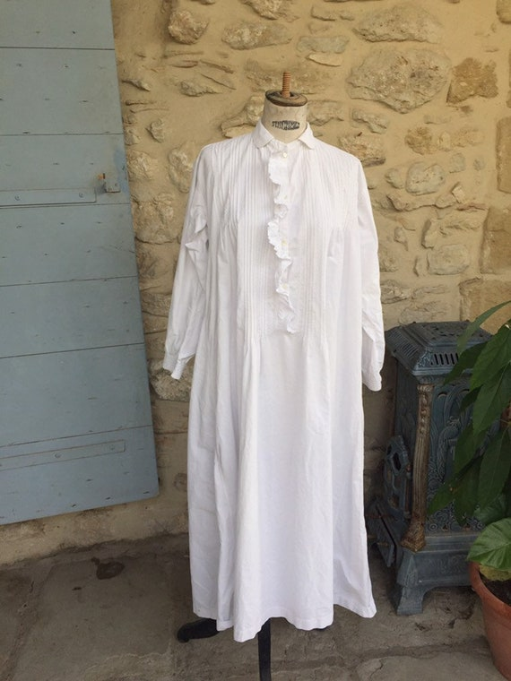 Antique Victorian nightgown - image 8
