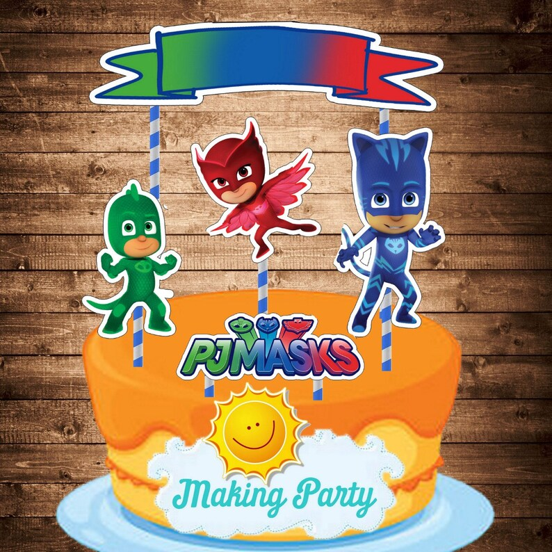 PJ Masks Cake Topper Instant Download Decorating With