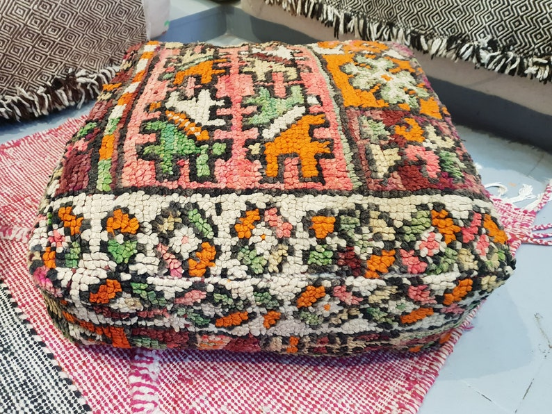 Boujaad Pouf  23x23  inches