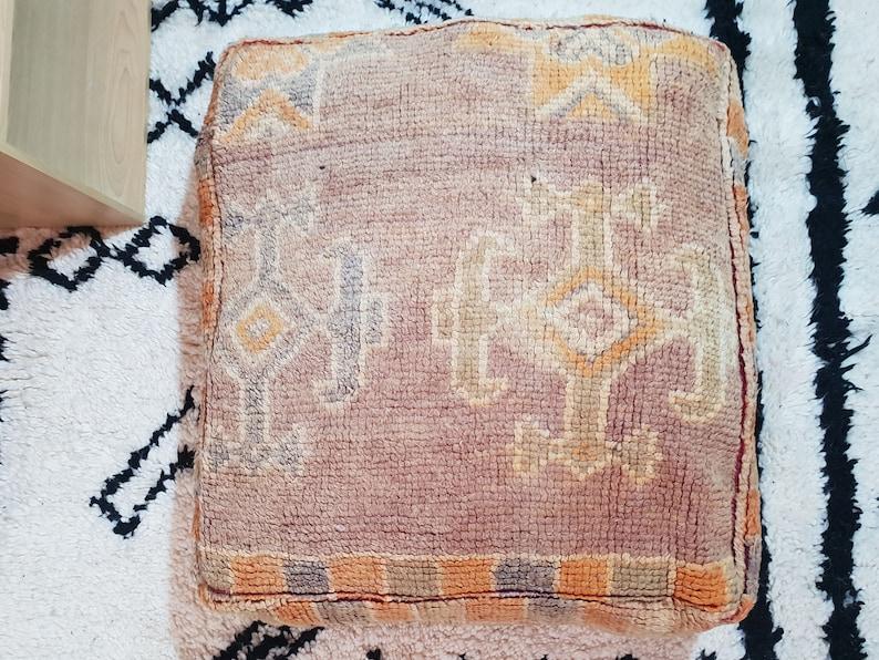 handmade pouf kilim pouf kilim ottoman pouf square pouf vintage pouf moroccan pouf wool pouf boujaad pouf
