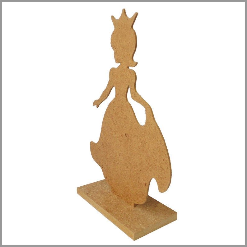 Girl bedroom decor. Standing Princess 9.5 Centerpiece cutout with stand base