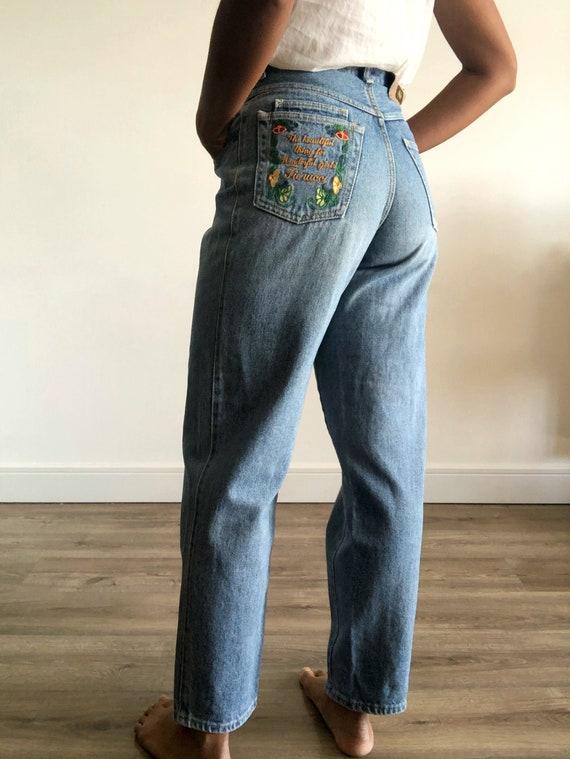 Vintage Fiorucci jeans, 80's jeans, Pinched waist