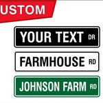 Custom Street Sign, Personalized Street Sign, Farmhouse Sign, Farm Sign, Business Sign, Personalized Farm Sign, Custom Farm Sign