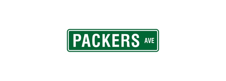 Green Bay Packers Street Sign  NFL Man Cave  Green Bay image 0