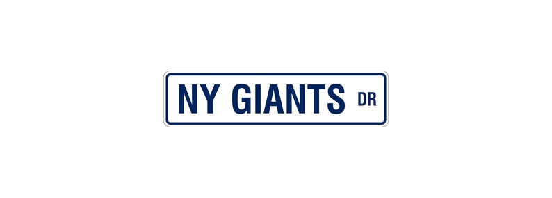 NY Giants Sign  Giants Man Cave  NY Giants Wall Art   image 0