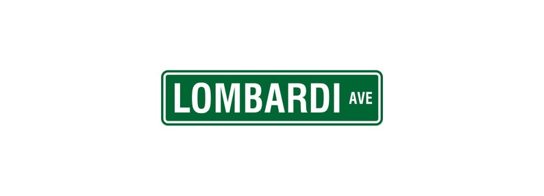 Green Bay Packers Street Sign  Packers Man Cave  Lombardi image 0