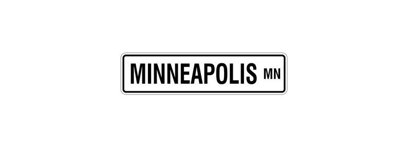 Minneapolis Minnesota Aluminum Street Sign  Minneapolis MN image 0