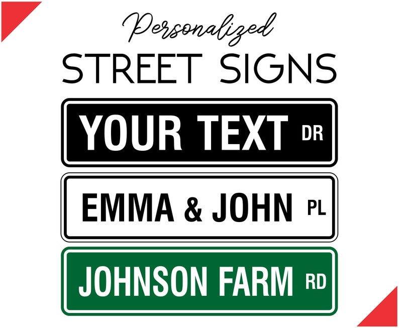 Custom Street Sign  Personalized Street Sign  Custom Outdoor image 0