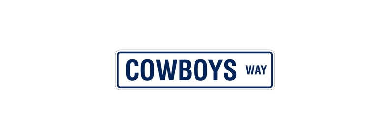 Dallas Cowboys Street Sign  NFL Man Cave  Aluminum Sign  image 0